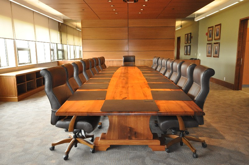 Furniture, boardroom table, wooden table